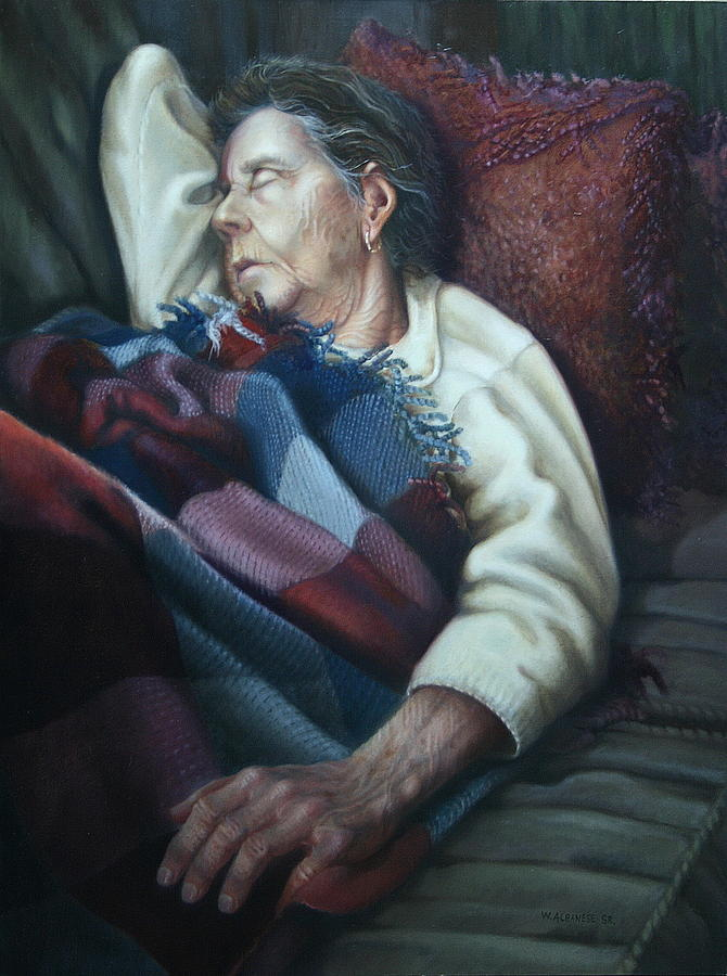 Tuckered Out Painting by William Albanese Sr
