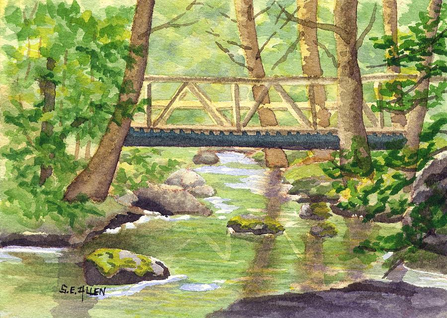 Stream Painting - Tuckers Brook by Sharon E Allen