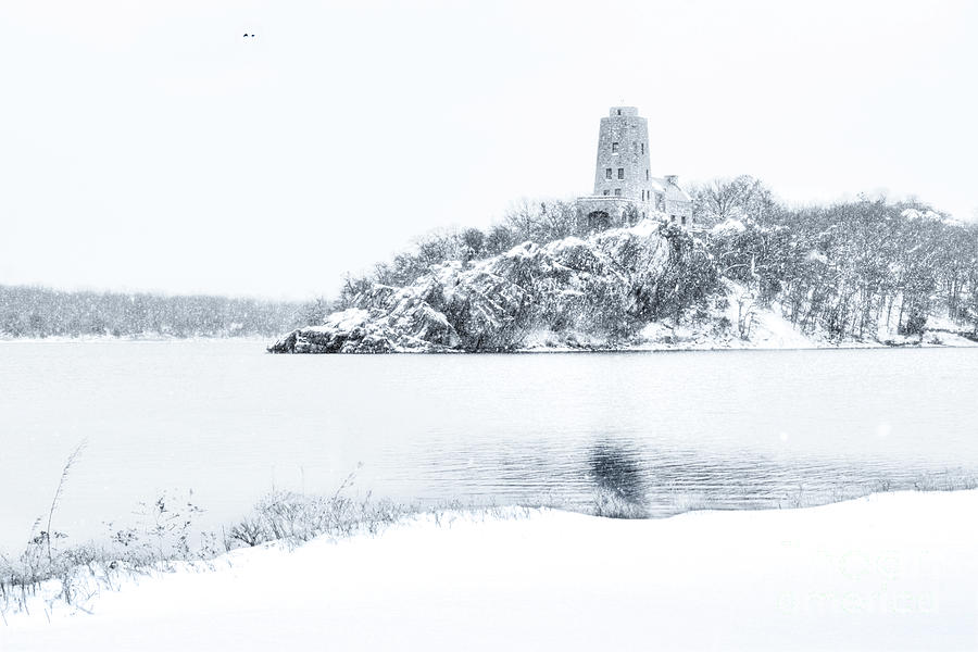 Oklahoma Photograph - Tuckers Tower In Winter by Tamyra Ayles