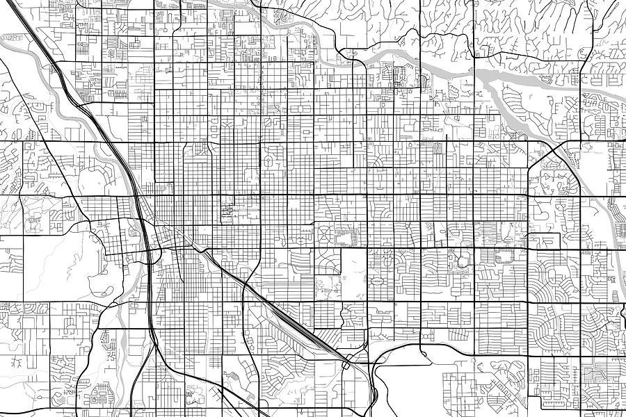 Tucson Arizona Usa Light Map Digital Art by Jurq Studio
