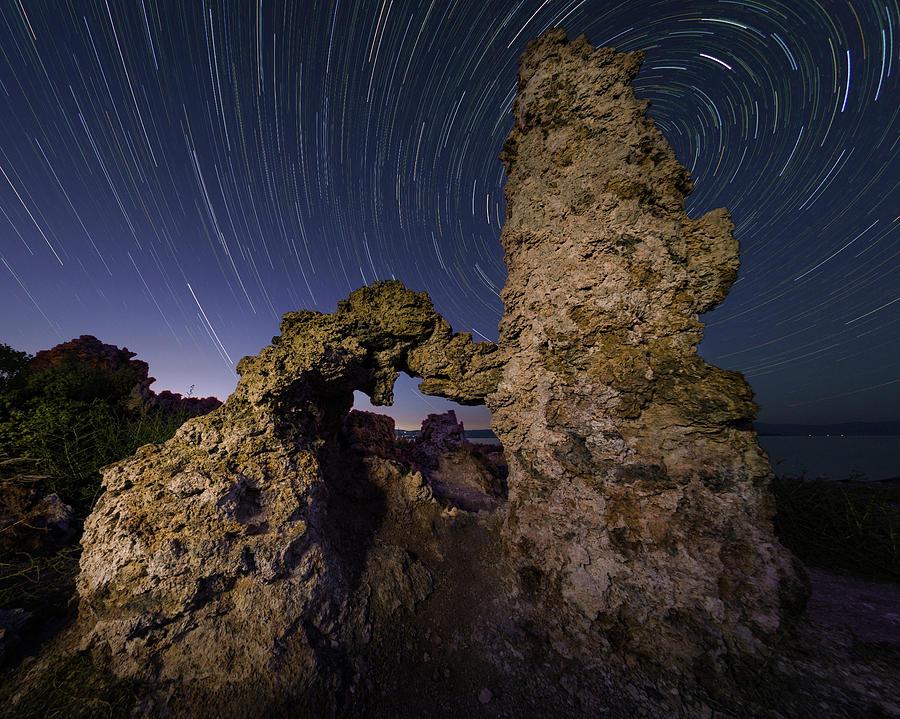 Tufa Formation at Blue Hour by Hal Mitzenmacher
