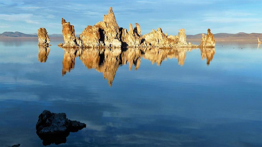 Tufa Reflection at Mono Lake by Tranquil Light Photography
