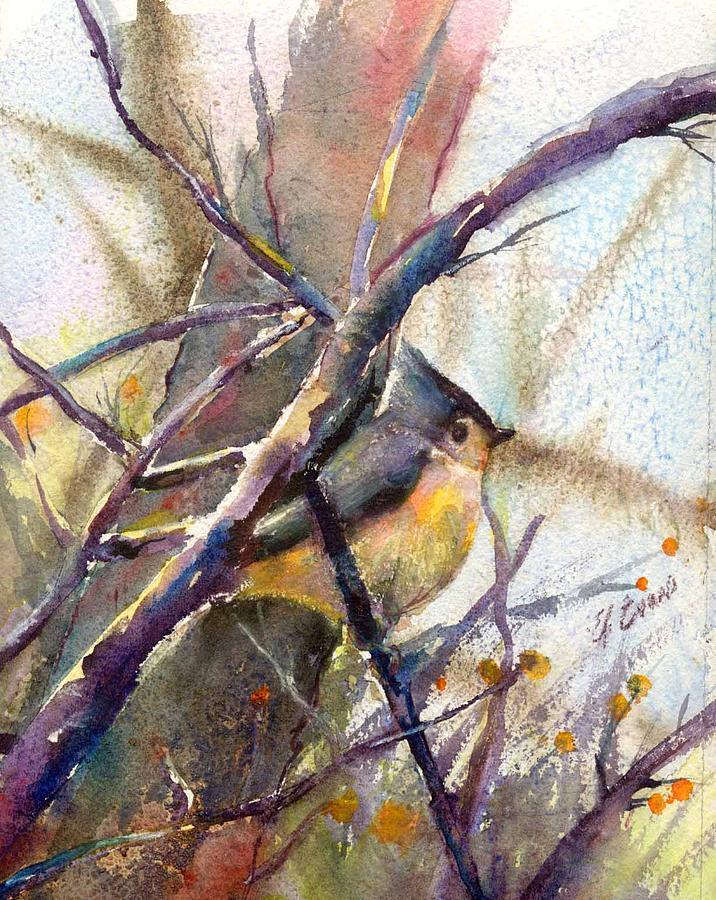 Birds Painting - Tuffed Titmouse 2 by Elizabeth Evans