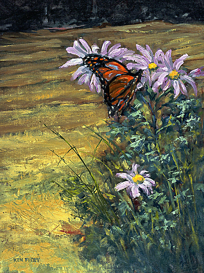 Butterfly Painting - Tuft of Flowers by Ken Fiery