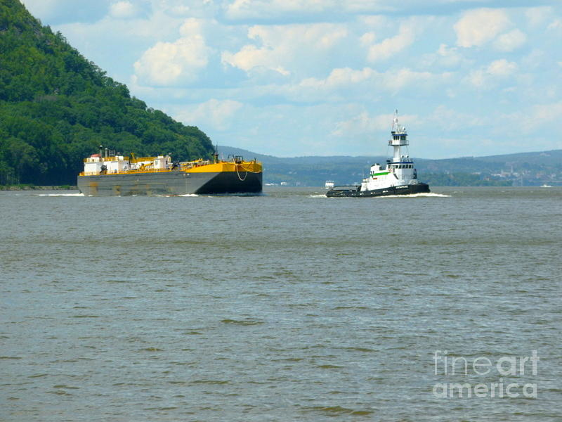 Tug And Barge Photograph by William Rogers