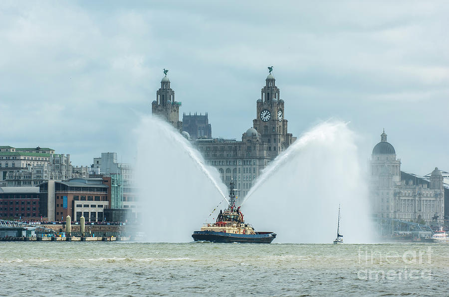 Tug Boat Fountain by Paul Warburton