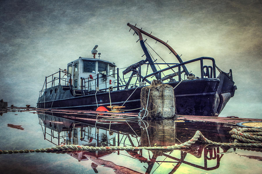 Tug Photograph - Tug in the Fog by Everet Regal