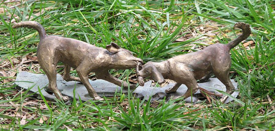 Beagle Sculpture - Tug O by Karen  Peterson