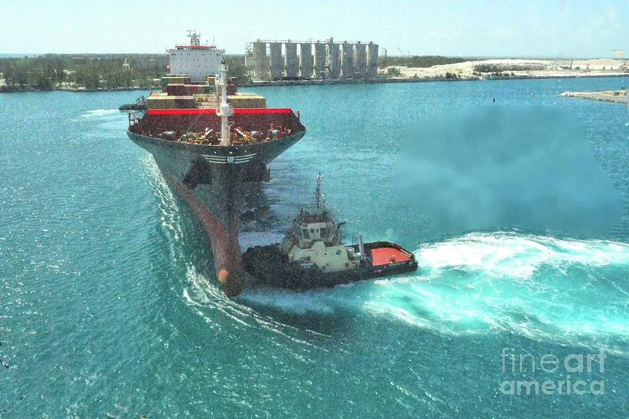Tugboat Photograph - Tugboat At Freeport, Grand Bahamas Harbor by Janette Boyd
