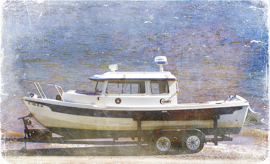 Digital Montage Painting - Tugboat by Cynthia Powell