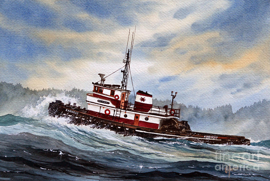 Tugboat Earnest Painting by James Williamson