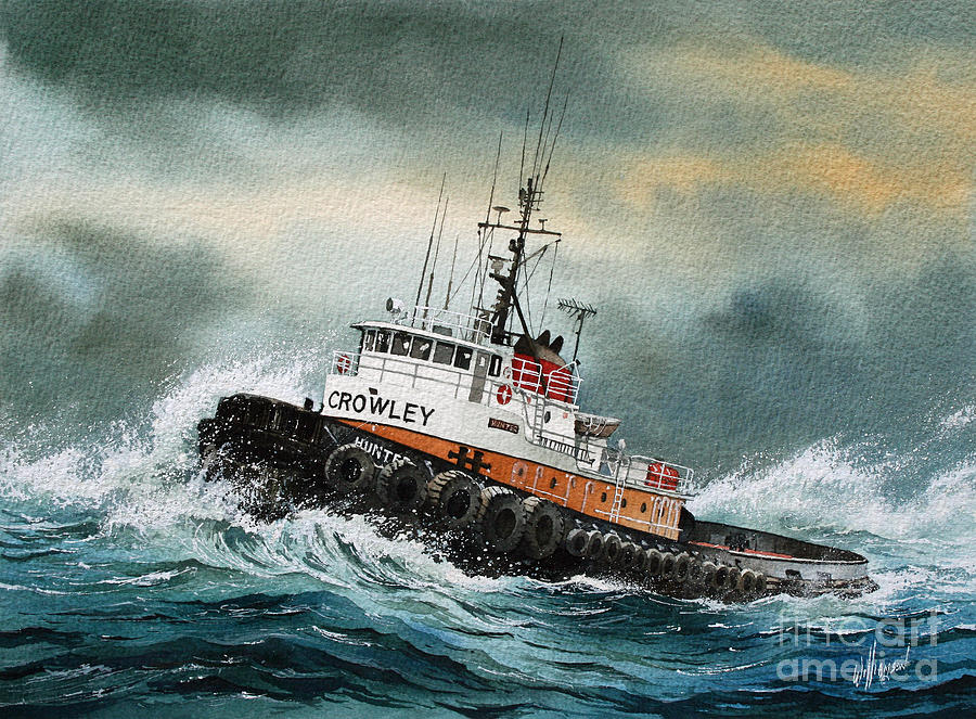 Tugboat Hunter Crowley Painting By James Williamson