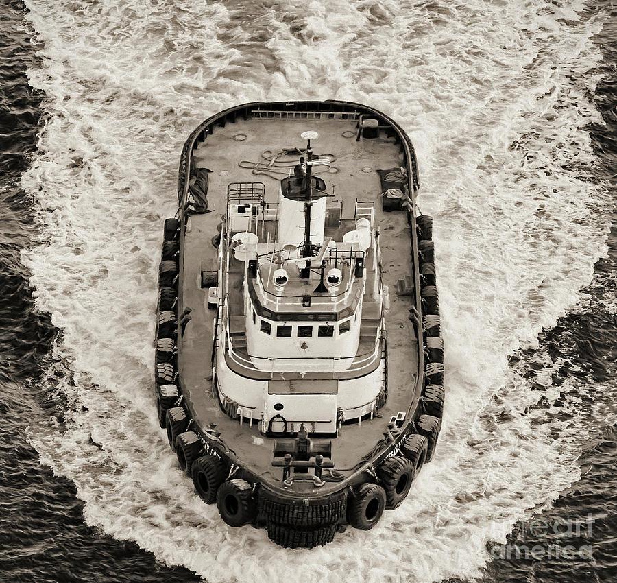 Tugboat Photograph - Tugboat In San Francisco Bay by David Oppenheimer