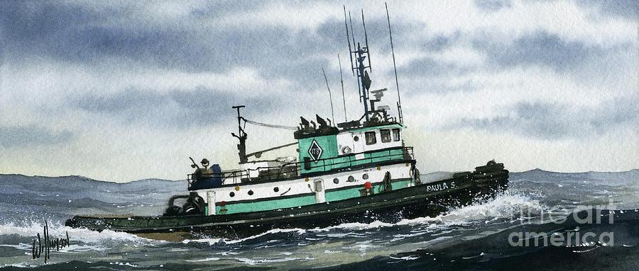 Tugboat Painting - Tugboat PAULA S by James Williamson