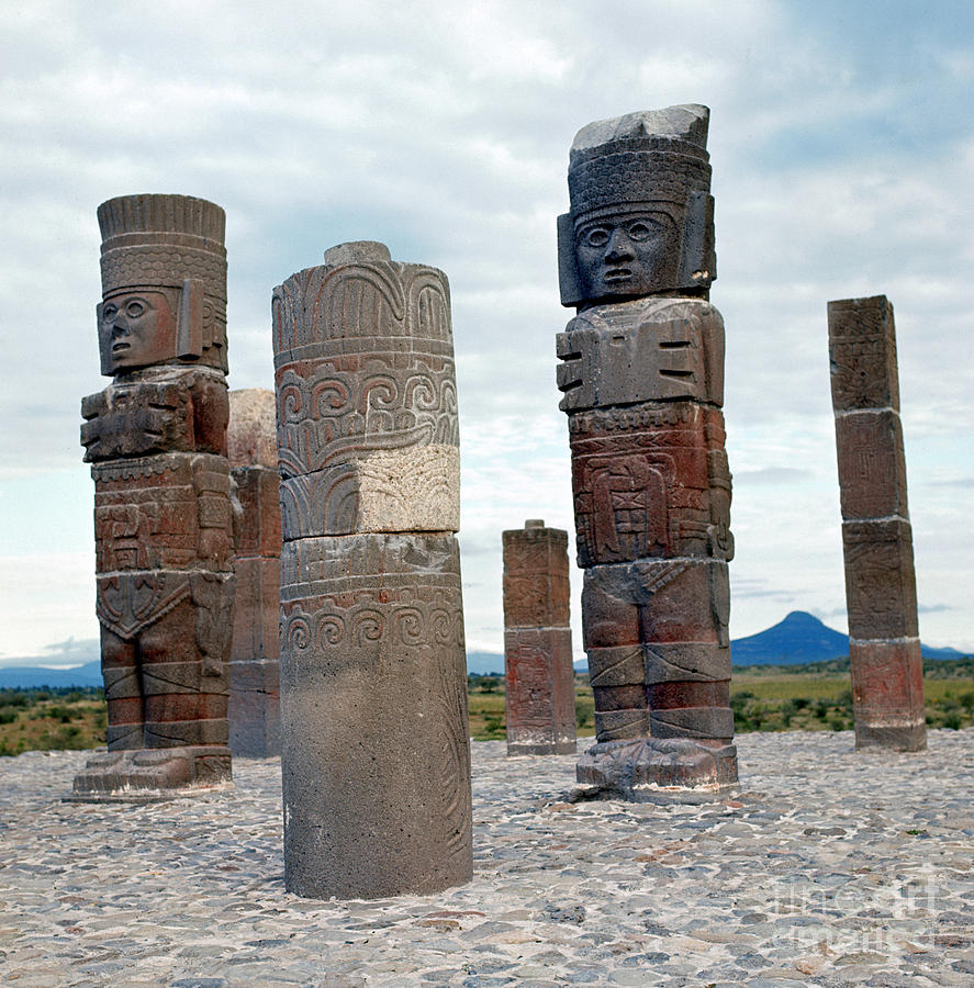 10th Century Photograph - Tula: Toltec Monuments by Granger