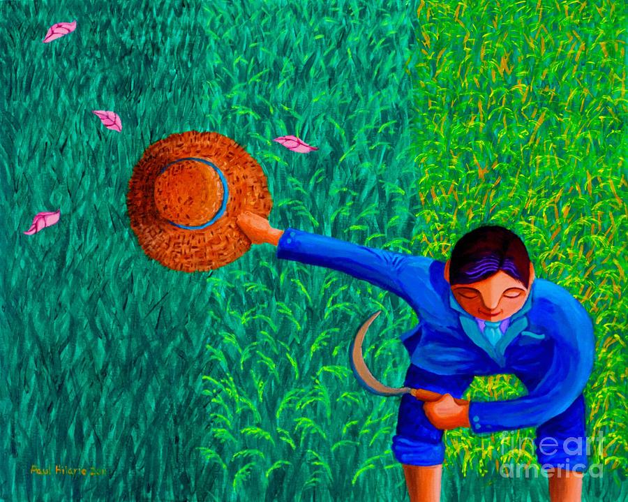 Rice Painting - Tularan Ang Palay by Paul Hilario