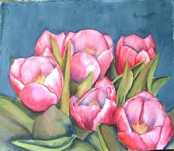 Flowers Painting - Tulip 6 by Diane Ziemski