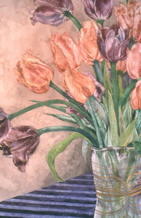 Floral Painting - Tulip Bouquet - 9 by Caron Sloan Zuger
