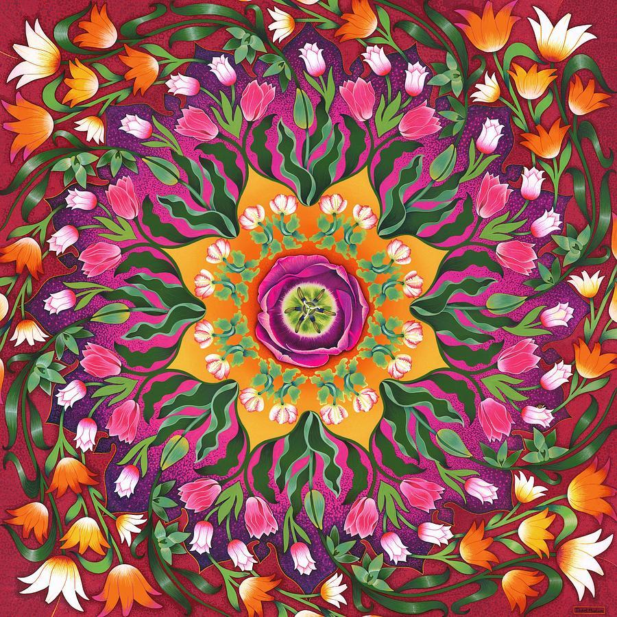 Tulips Painting - Tulip Mania 2 by Isobel  Brook Haslam