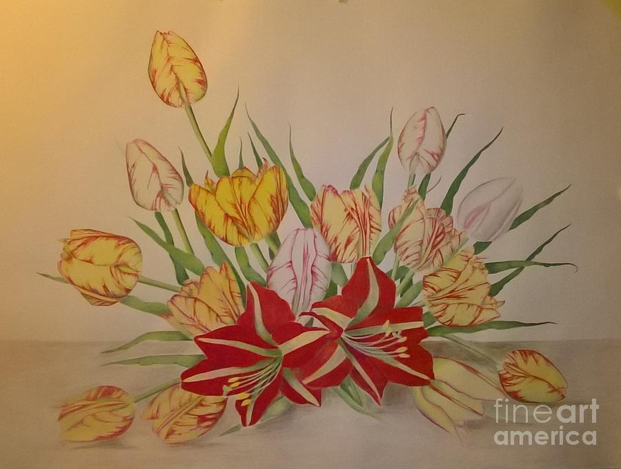 Tulip Painting - Tulip by Peter Poraczky