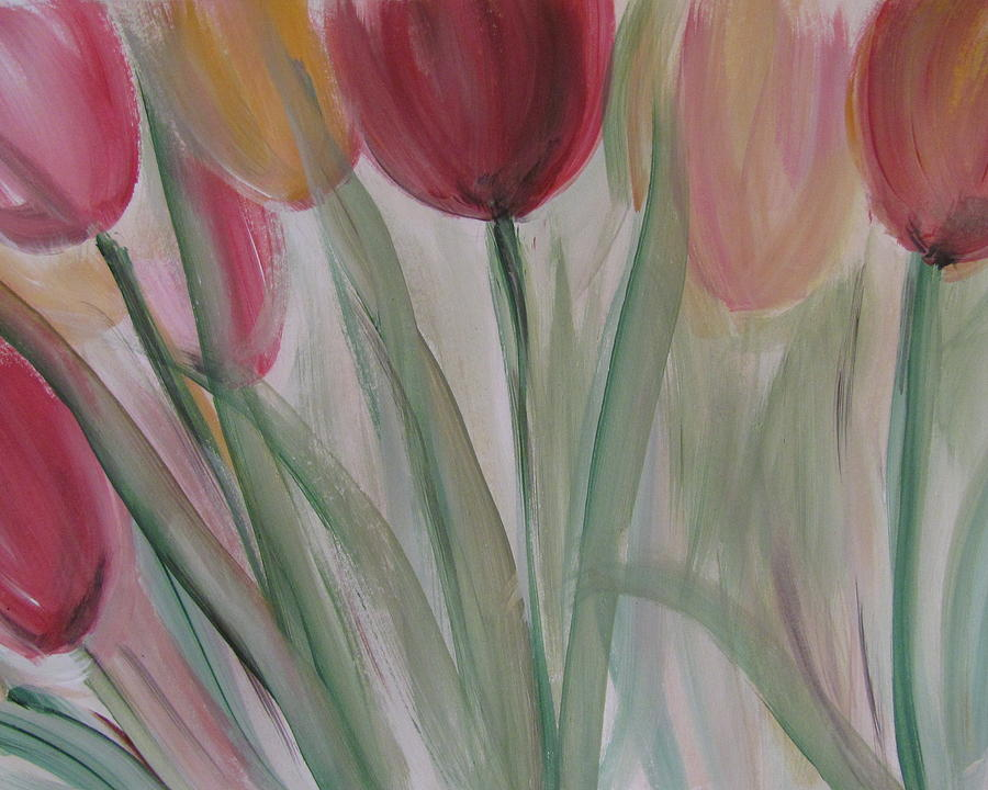 Tulips Painting - Tulip Series 3 by Anita Burgermeister