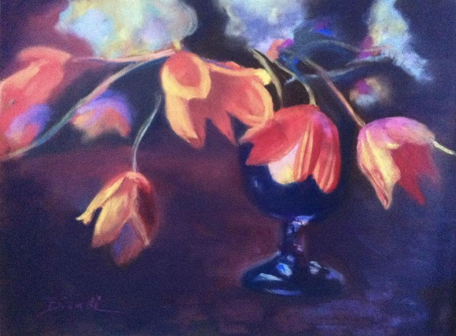Tulips Painting - Tulip Still Life by Janet Biondi