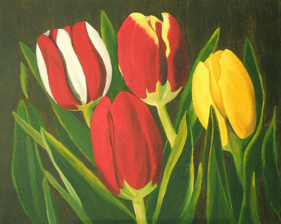 Tulips Painting - Tulip Time by Brandy House