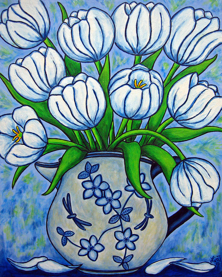 Flower Painting - Tulip Tranquility by Lisa  Lorenz
