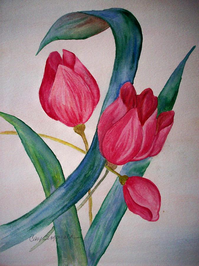 Tulip Painting - Tulip Tulip by Cary Singewald