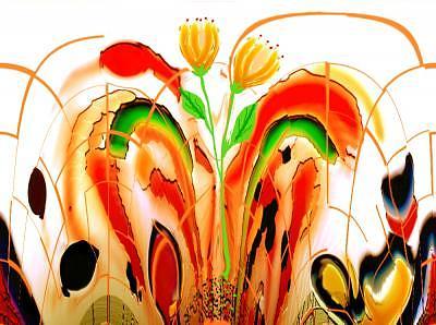 Flowers Digital Art - Tulipas by Aline Pottier  Gama Duarte