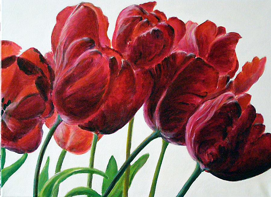 Nature Painting - Tulipe by Deborah Dallinga