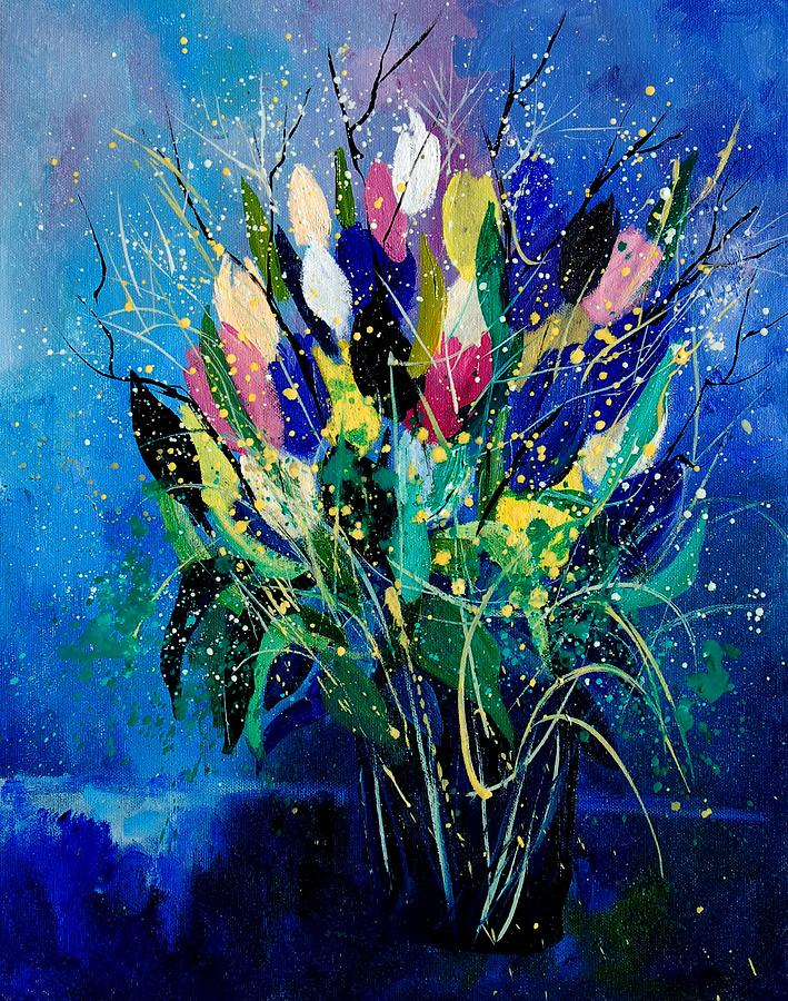 Flowers Painting - Tulips 45 by Pol Ledent