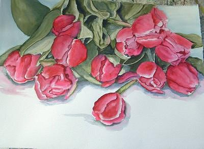 Flowers Painting - Tulips 8 by Diane Ziemski