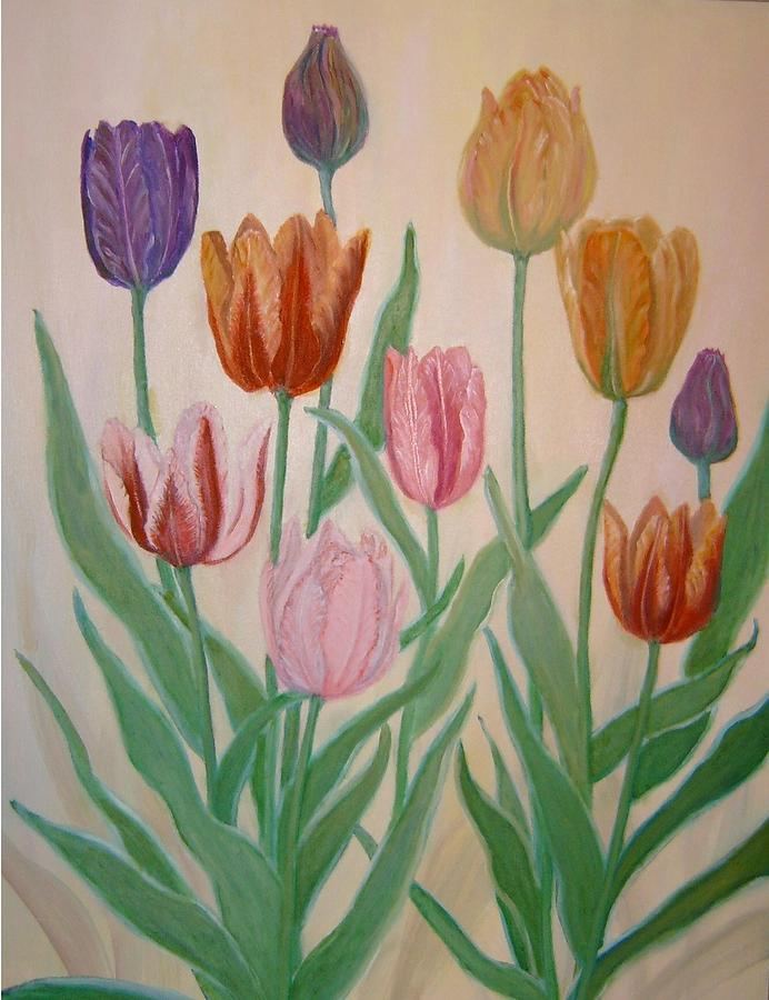 Tulips Painting - Tulips by Ben Kiger