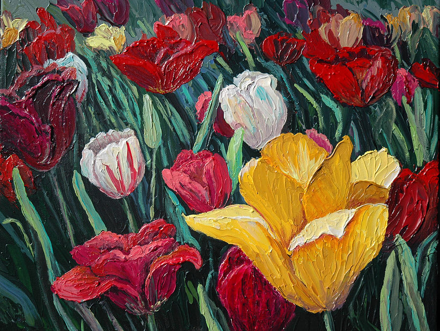 Floral Painting - Tulips by Cathy Fuchs-Holman