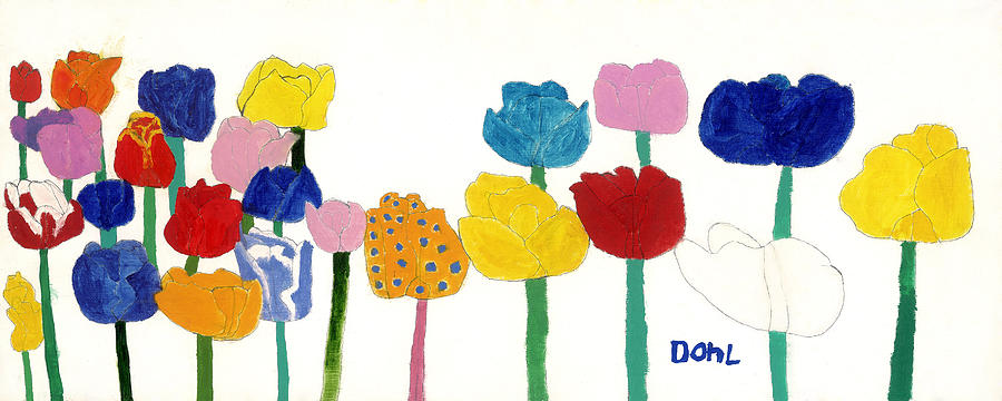 Tulips  Painting by Don Larison