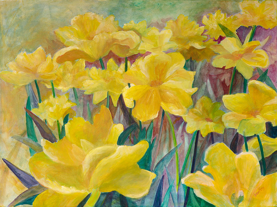 Tulips Painting - Tulips In Abstract Time by Rita Bentley