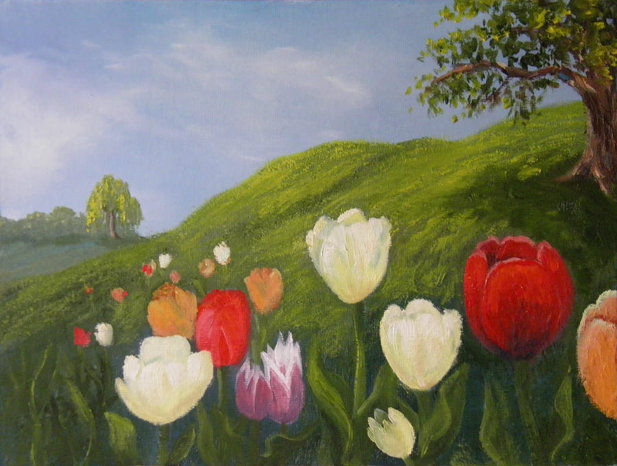Tulips in Spring by Sharon Casavant