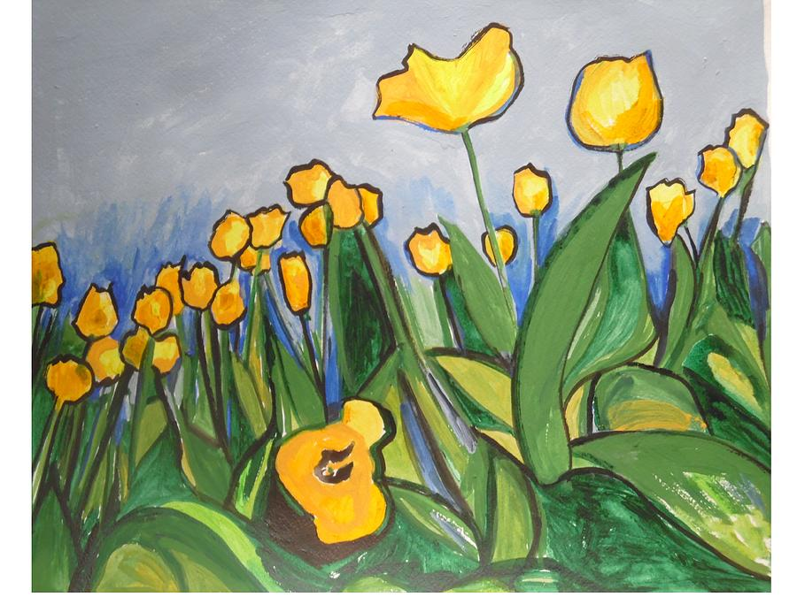 Tulips in Springtime by Esther Newman-Cohen