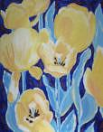 Tulips Painting - Tulips In The Blue by Suzanne Berton