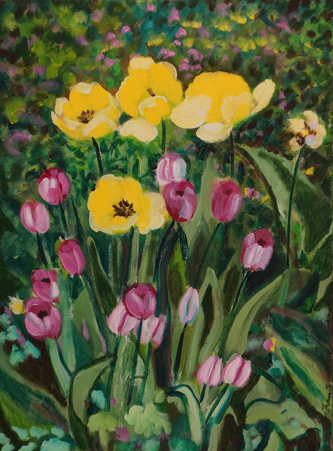 Tulips Painting - Tulips In The Capitol 2 by Fran Steinmark