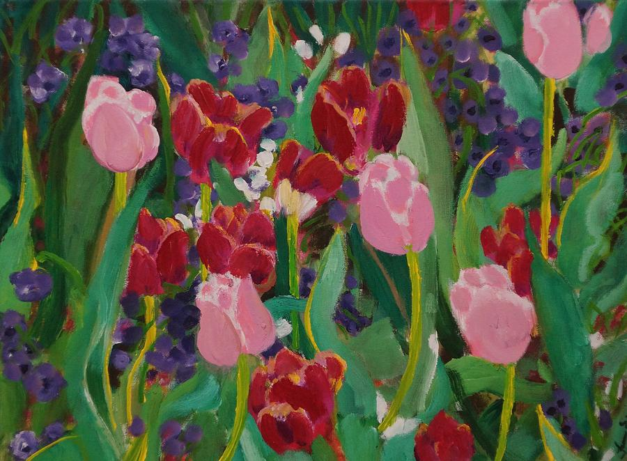 Tulips Painting - Tulips In The Capitol by Fran Steinmark