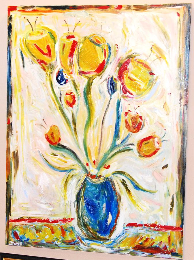 Flowers Painting - Tulips In The Spring by Ian  Fruehauf