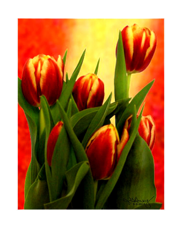 Tulips Mixed Media - Tulips Jgibney Signature  5-2-2010 Greenville Sc The Museum Zazzle For Faa20c by jGibney The MUSEUM Zazzle Gifts