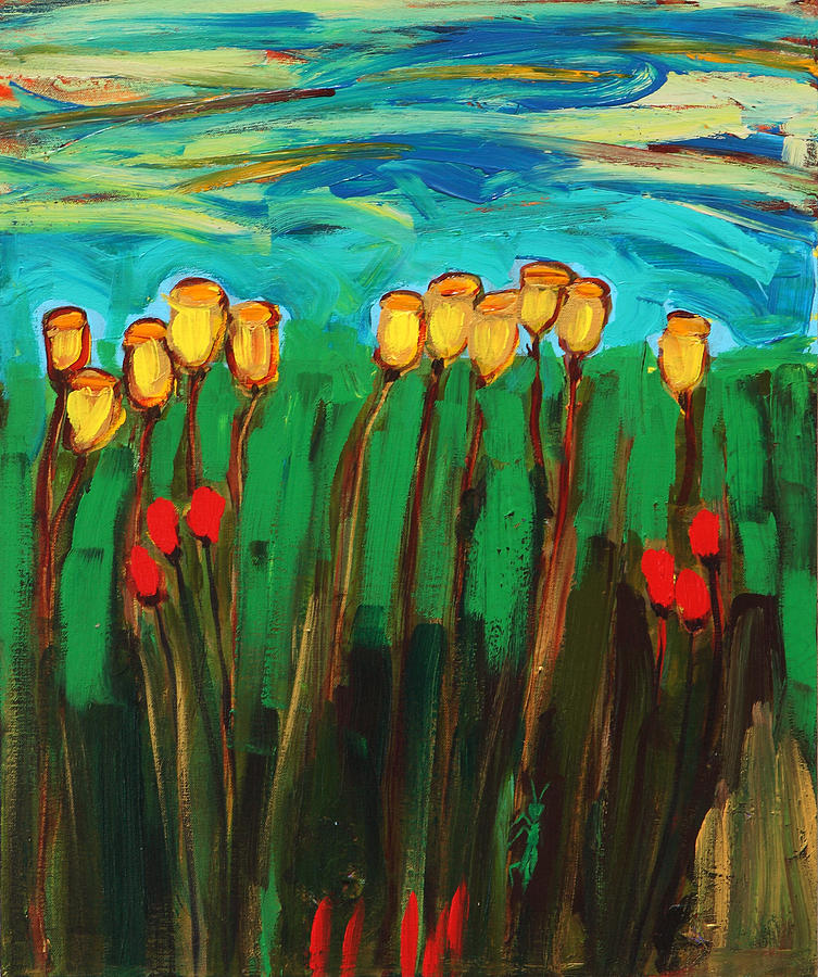 Flowers Painting - Tulips by Maggis Art
