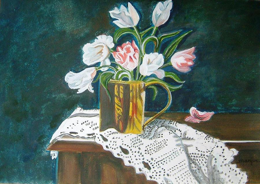 Tulips Painting - Tulips by Manjiri Kanvinde