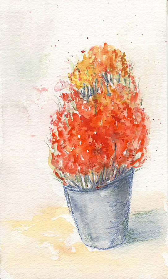 Watercolour Painting - Tulips by Maria Tepper