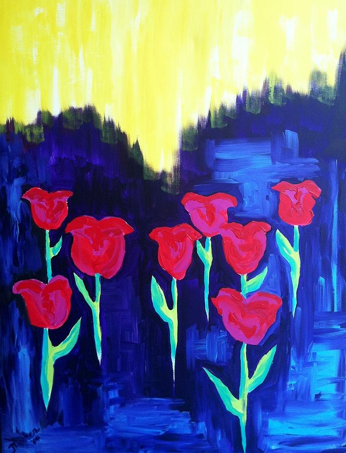Tulips Of My Heart Painting