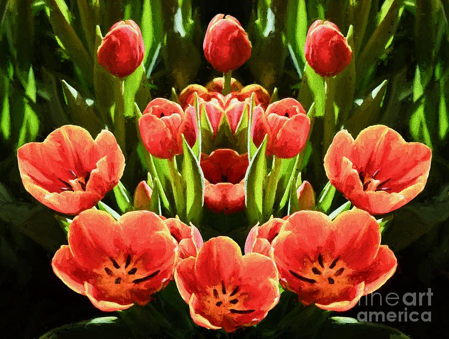 Flower Photograph - Tulips by Ray Warren
