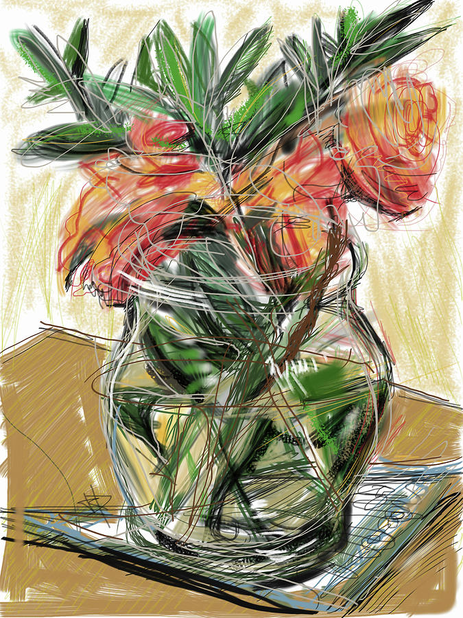 Tulips Mixed Media - Tulips by Russell Pierce